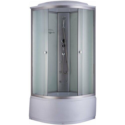 Душевая кабина Niagara NG 2309 G высокий поддон 100см*100см белый/хром матовое душевая кабина niagara premium ng 309 01nмозаик