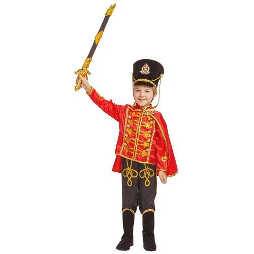 Купить Костюм пуговка Гусар (1020 к-18), красный/черный, размер 110, Карнавальные костюмы