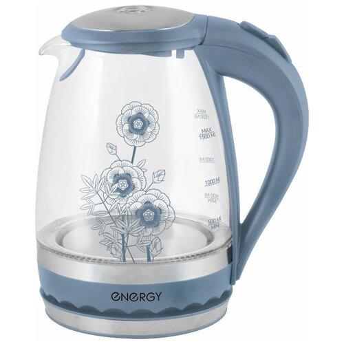Чайник Energy E-279 (с рисунком), blue чайник energy e 234 white blue