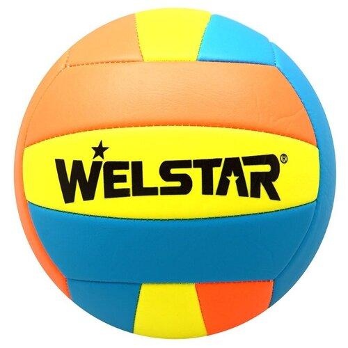Волейбольный мяч WELSTAR VMPVC4358 оранжевый/голубой/желтый