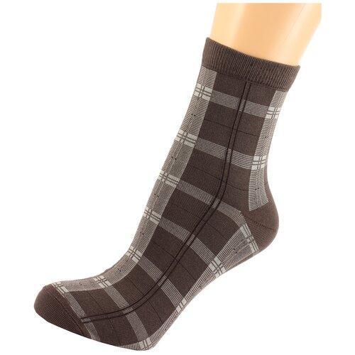 Носки женские LorenzLine Д43, Коричневый, 25 (размер обуви 37-38)