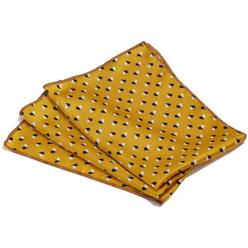 Платок Nothing Shop (золотистый; белый; черный) 48 х 48 см
