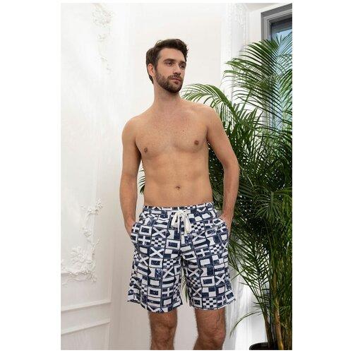 Laete Летние мужские пляжные шорты, синий, M