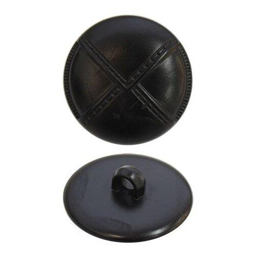 Купить К1904 Пуговица 28 мм (чёрный) 36 шт, Astra & Craft, Пуговицы