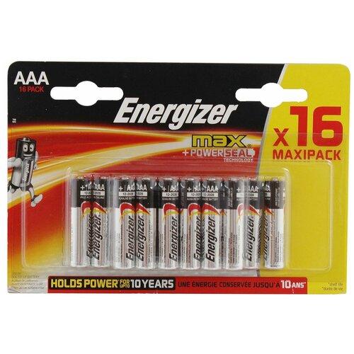 Фото - Батарейка Energizer Max AAA/LR03, 16 шт. батарейка energizer max aaa lr03 алкалиновая 4bl