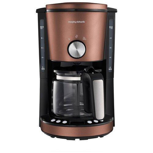 Кофеварка капельная Morphy Richards 162523, бронзовый тостер morphy richards 222017 белый розовое золото