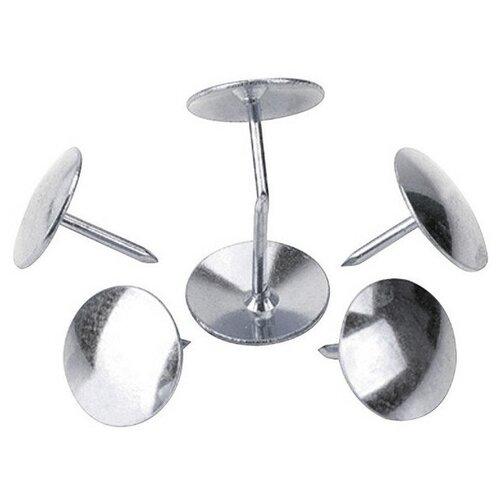 Купить Кнопки Attache, 10 мм, 50 шт (серебристый), Скрепки, кнопки
