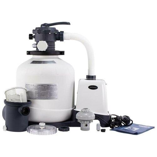 26652 Песочный фильтрующий насос INTEX SAND FILTER PUMP 9500л/ч. песочный фильтр насос intex 26644 krystal clear 4 5м3 ч резервуар для песка 12кг