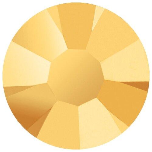 Купить Стразы клеевые PRECIOSA Crystal AB, 3, 9 мм, стекло, 144 шт, золото (438-11-615 i), Фурнитура для украшений