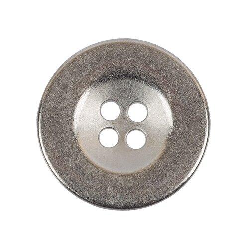 Пуговицы металлические Gamma 20 мм, 24 шт, №04, никель (MB 0209)