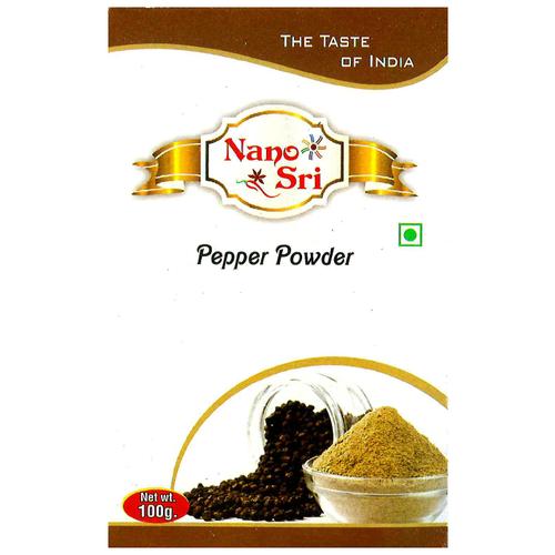 Фото - Черный перец молотый Nano Sri 100 гр. приправа nano sri самбар масала 2 шт по 100 г