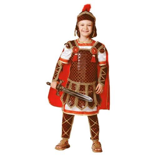 Костюм Батик Гладиатор (418), коричневый/красный/белый, размер 146 брюки sela размер 146 коричневый
