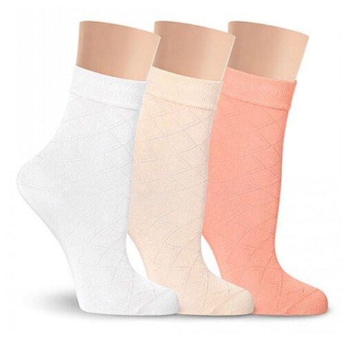 Тонкие летние LorenzLine Д36 женские носки, 90% микромодал, Белый, 25 (размер обуви 37-38)