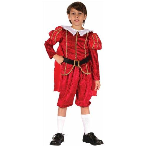 Костюм Bristol Novelty Принц династии Тюдоров (ПБ1587), красный, размер 134