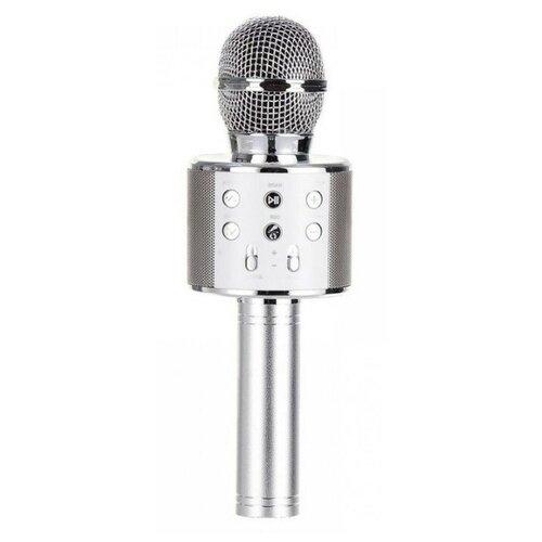 Беспроводной караоке-микрофон WS-858 (серебро)