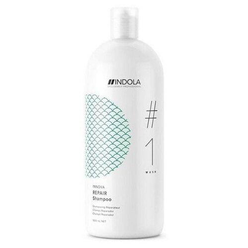 Фото - Шампунь Indola Innova Care Repair Shampoo Восстанавливающий шампунь для сухих и поврежденных волос 1500 мл. шампунь для восстановления поврежденных волос indola innova repair shampoo 300 мл