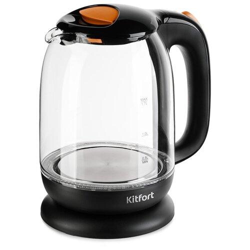 Чайник Kitfort KT-625-3, оранжевый