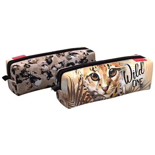 Купить ErichKrause Пенал квадро Wild Cat (48484) бежевый, Пеналы