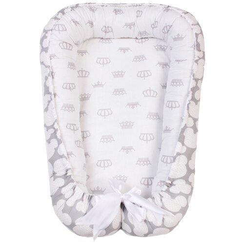 Фото - Позиционер для сна Amarobaby Little Baby серый/белый короны позиционер для сна amarobaby little baby серый белый мороженое