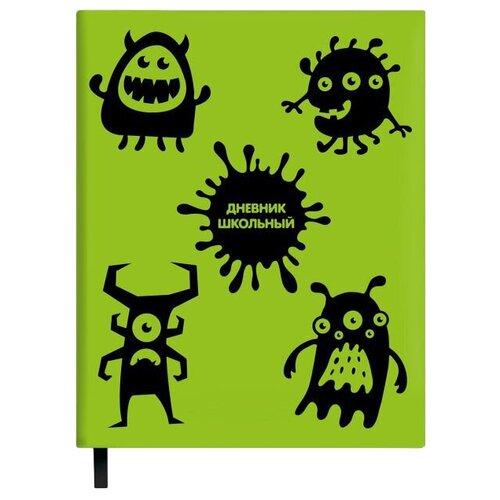 Феникс Дневник школьный Монстрики 48652 зеленый