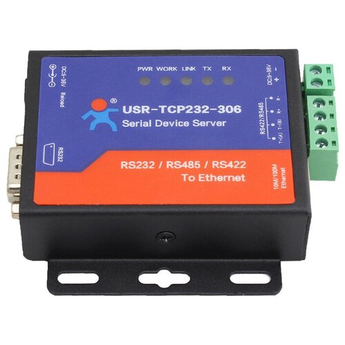 usr tcp232 306 free shipping supports tcp client short connection function supports rs232 rs485 rs422 port 5 36v dc Конвертер интерфейсов USR IOT USR-TCP232-306