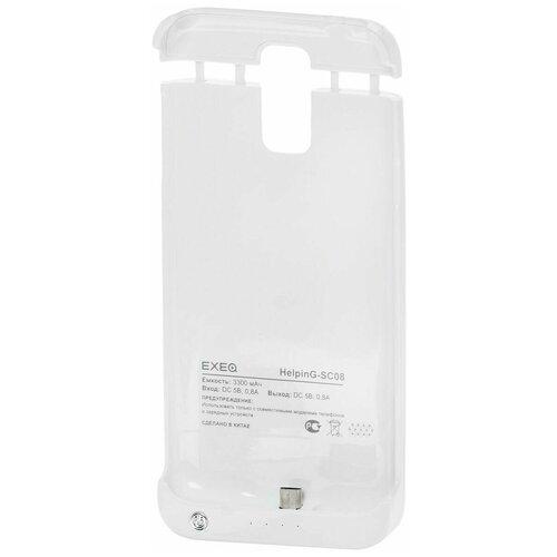 Чехол-аккумулятор для Samsung Galaxy S5 Exeq HelpinG-SC08 (белый)