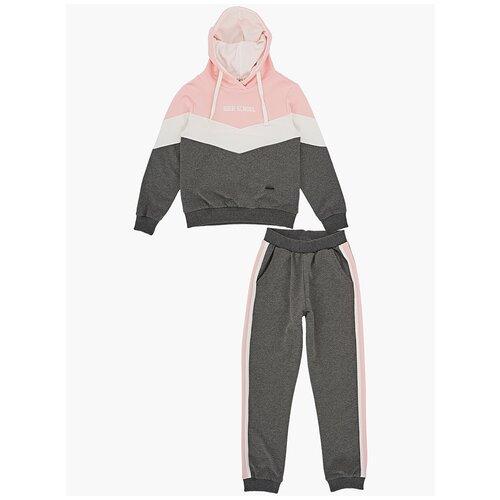 Спортивный костюм Mini Maxi размер 140, графит/розовый