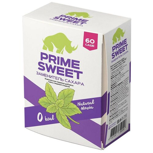 Prime Kraft сахарозаменитель Prime Sweet саше порошок 60 г 1 шт. 60 шт.