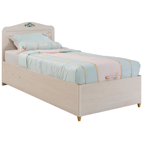 Кровать детская Cilek Flora односпальная, размер (ДхШ): 194х93 см, цвет: кремовый шкафы cilek купе flora
