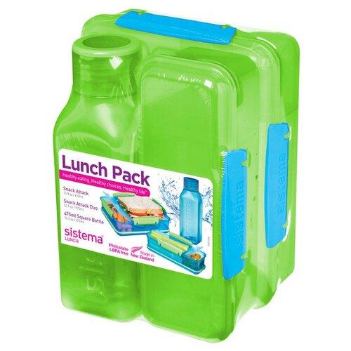 Набор Lunch: 2 контейнера и бутылка 475мл