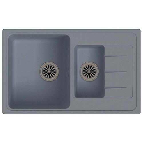 Фото - Врезная кухонная мойка 78.2 см Ewigstein Elegant 60KF серый металлик мойка кухонная ewigstein elegant e w90kf шоколад