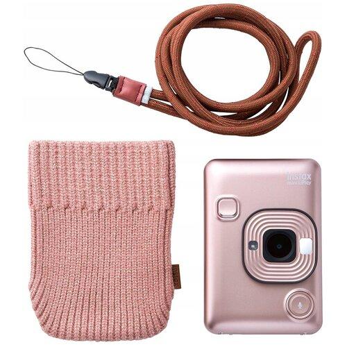 Фото - Фотоаппарат моментальной печати Fujifilm Instax Mini LiPlay Bundle Hard, blush gold чехол fujifilm для instax mini 11 blush pink