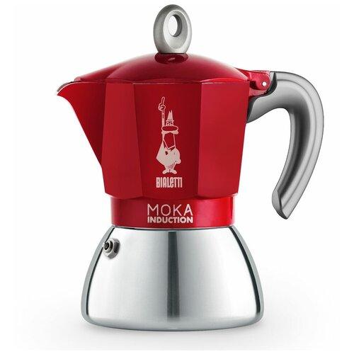 Гейзерная кофеварка Bialetti Moka Induction Red на 6 порций (6946)