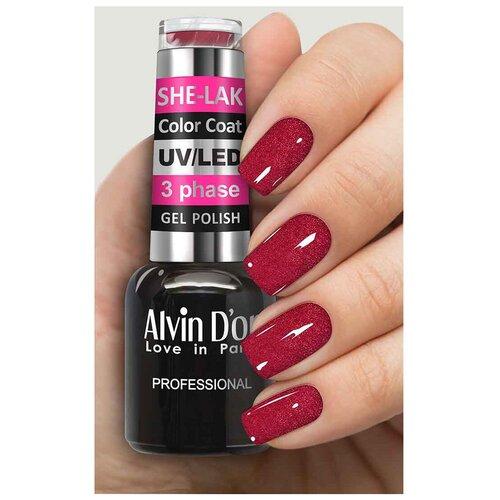 Купить Гель-лак для ногтей Alvin D'or She-Lak Color Coat, 8 мл, 3539