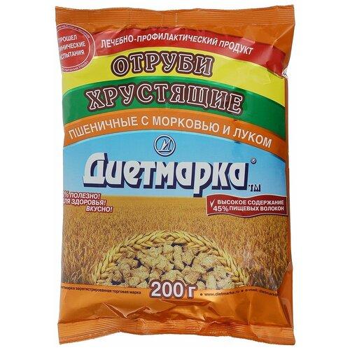 Отруби ДиетМарка пшеничные лук и морковь, 200 г отруби сибирские пшеничные с черникой 200 г