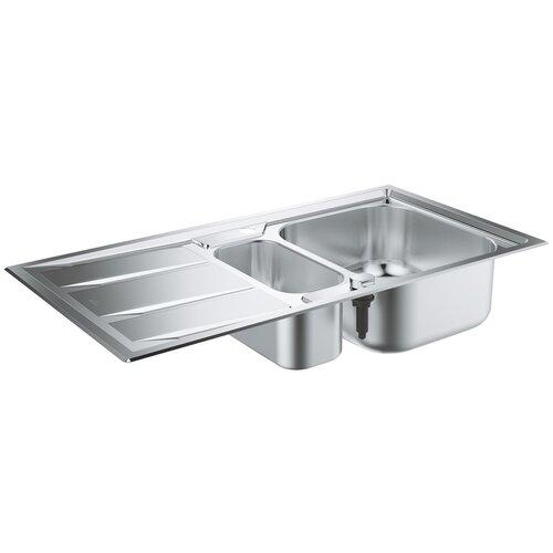 Врезная кухонная мойка 98.3 см Grohe K400+ 31569SD0 нержавеющая сталь врезная кухонная мойка 87 3 см grohe k400 31568sd0 нержавеющая сталь
