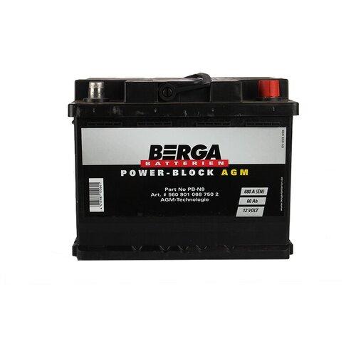 Автомобильный аккумулятор Berga PB-N9