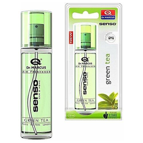 Dr. Marcus Ароматизатор для автомобиля Senso Spray Green Tea 50 мл ароматизатор автомобильный dr marcus senso pump spray mix зеленое яблоко green apple