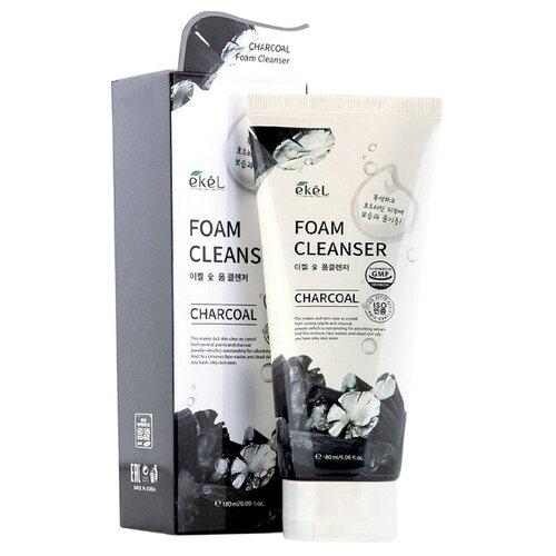 Фото - Пенка для умывания с древесным углем Ekel Charcoal Foam Cleanser, 180мл глиняная маска пенка для лица с древесным углем charcoal mud pack to foam 7 3мл