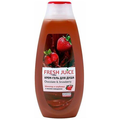 Крем-гель для душа Fresh Juice Chocolate & strawberry, 400 мл