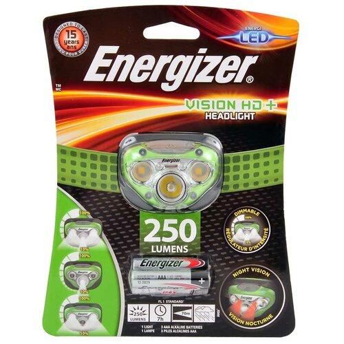 ENERGIZER Фонарь налобный ENERGIZER VISION HD+ HEADLIGHT