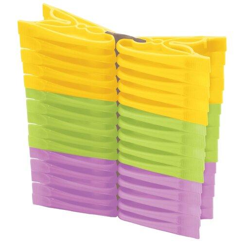 Бытпласт прищепки бельевые 30 шт. разноцветный