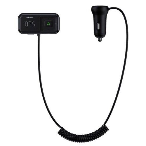 FM трансмиттер Baseus T typed S-16 wireless MP3 car charger - Черный (CCTM-E01)