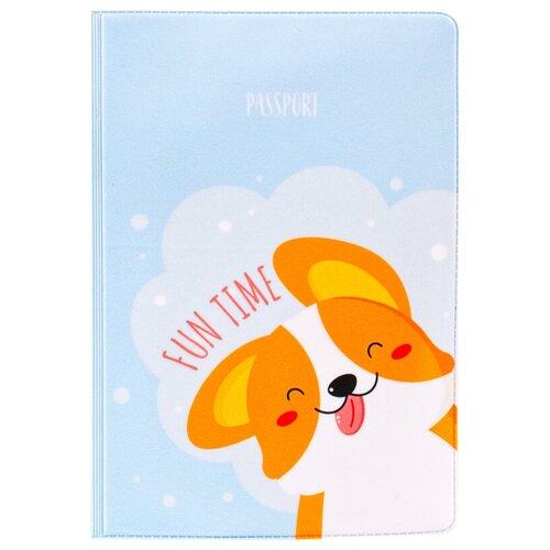 Обложка для паспорта MESHU Fun Time, голубой