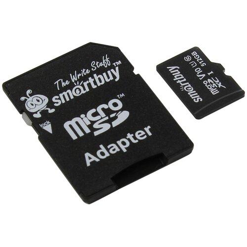 Фото - Карта памяти SmartBuy microSDXC Class 10 UHS-I U1 V10 + SD adapter 512 GB, адаптер на SD карта памяти apacer microsdxc card class 10 uhs i u1 sd adapter адаптер на sd