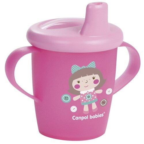 Фото - Чашка-непроливайка Canpol babies Toys, 250 мл, 9+ месяцев, цвет розовый (250989191) поильник непроливайка canpol babies 31 200 250 мл розовый девочка
