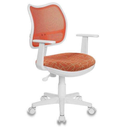 Компьютерное кресло Бюрократ CH-W797/OR/GIRAFFE детское, обивка: текстиль, цвет: оранжевый жираф компьютерное кресло бюрократ ch w797 abstract детское обивка текстиль цвет мультиколор абстракция