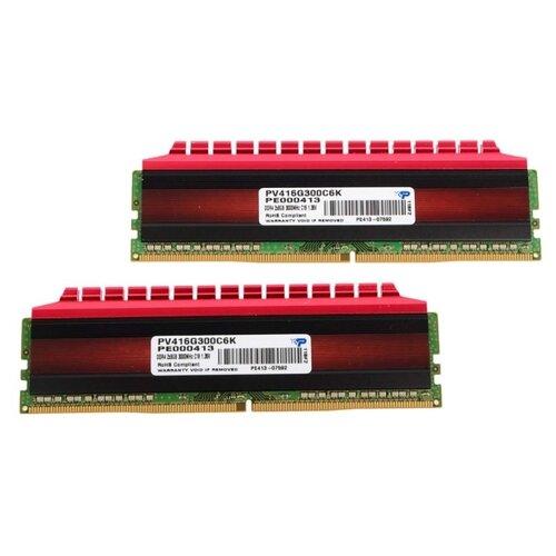 Фото - Оперативная память Patriot Memory VIPER 4 16GB (8GBx2) DDR4 3000MHz DIMM 288-pin CL16 PV416G300C6K оперативная память patriot memory viper rgb 16gb 8gbx2 ddr4 4133mhz dimm 288 pin cl19 pvr416g413c9k