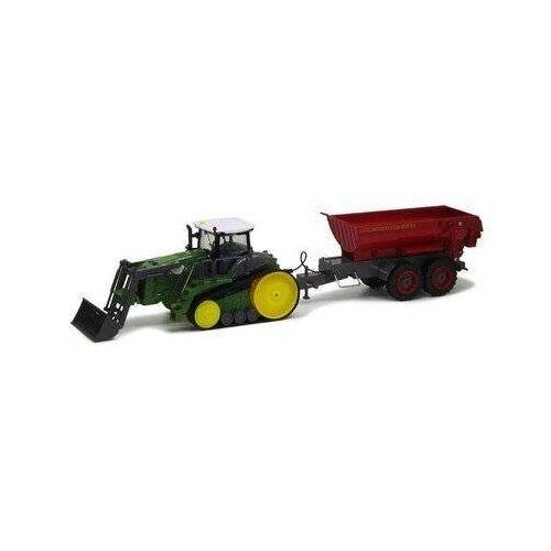 Трактор Пламенный мотор гусенечный с ковшом и полуприцепом трактор пламенный мотор 870493 желтый