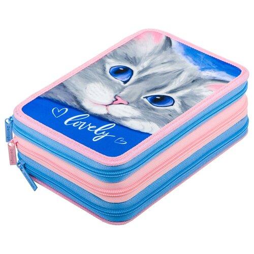 Купить Berlingo Пенал Lovely (PK06433) голубой/розовый, Пеналы